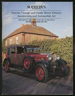 Sotheby's: Veteran, Vintage and Classic Motor Vehicles,