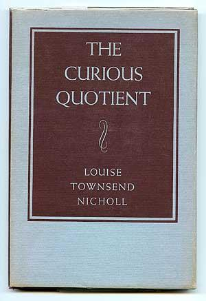 The Curious Quotient: NICHOLL, Louise Townsend