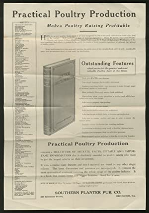 broadside] Practical PoultRY PRODUCTION. MAKES POULTRY RAISING