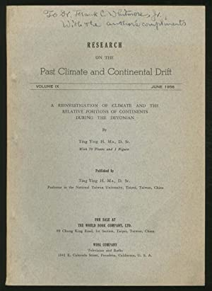 Research on the Past Climate and Continental: MA, Ting Ying