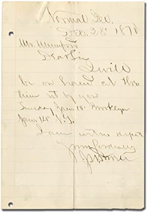 "Autograph Letter Signed (""J.W. Powell""): POWELL, John Wesley"