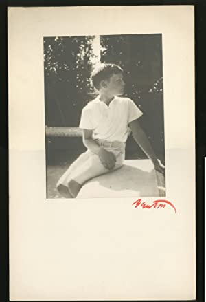 Original Portrait Photograph of a Young Boy