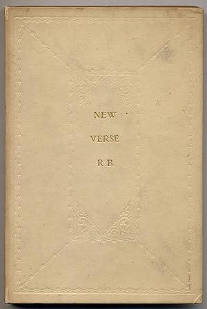 New Verse Written in 1921: BRIDGES, Robert