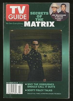 TV Guide Secrets of the Matrix October