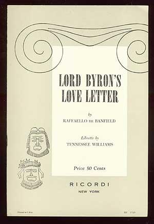 Lord Byron's Love Letter: Opera in One: BANFIELD, Raffaello de
