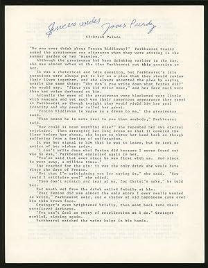 Manuscript fair copy]: 63: Dream Kit: PURDY, James