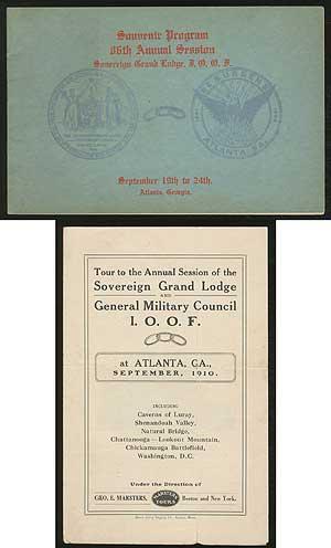 Souvenir Program, 86th Annual Session, Sovereign Grand Lodge I.O.O.F., Atlanta, Georgia, September ...
