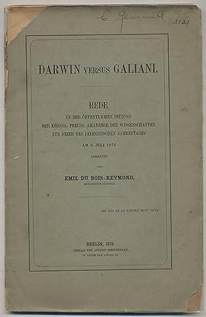 Darwin versus Galiani. Rede in der Offentlichen Sitzung der Knigl. Preuss. Akademie der ...