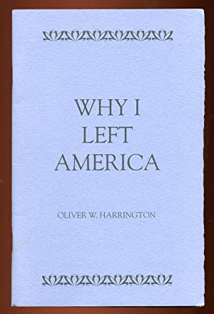 Why I Left America: Address by Oliver Wendell Harrington on April 18, 1991 at Wayne State Univers...