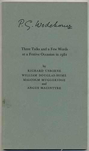 Three Talks and a Few Words at: OSBORNE, Richard, William