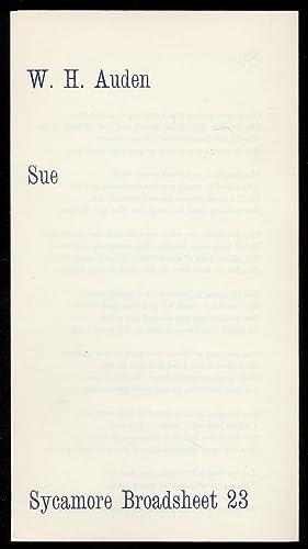 Sue: AUDEN, W.H.