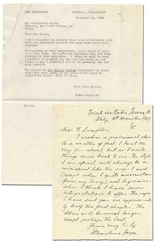 Autograph Letter Signed to James Laughlin
