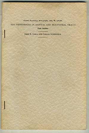 Sex Differences in Mental and Behavioral Traits: GARAI, Josef E.