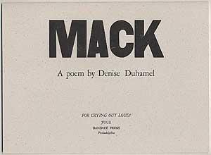 Mack: DUHAMEL, Denise
