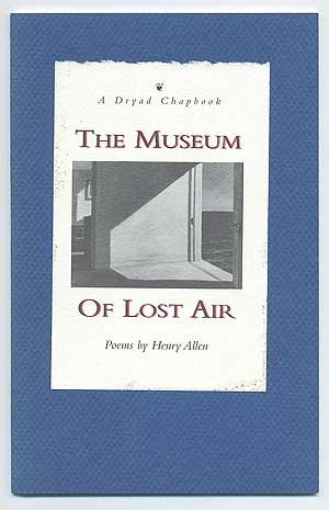 The Museum of Lost Air. Poems: ALLEN, Henry