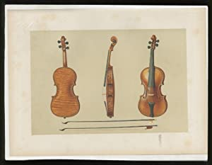 """Color Lithographic Print]: """"Violin, the Hellier Stradivarius"""": HIPKINS, Alfred J."""