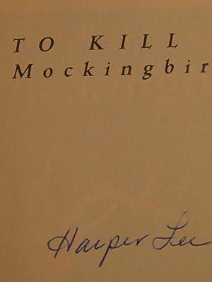 To Kill a Mockingbird. (Signed by Harper: Lee, Harper.