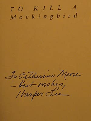 To Kill a Mockingbird. (Signed presentation by: Lee, Harper.