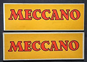 Meccano Showcardr (yellow with Red writing): A