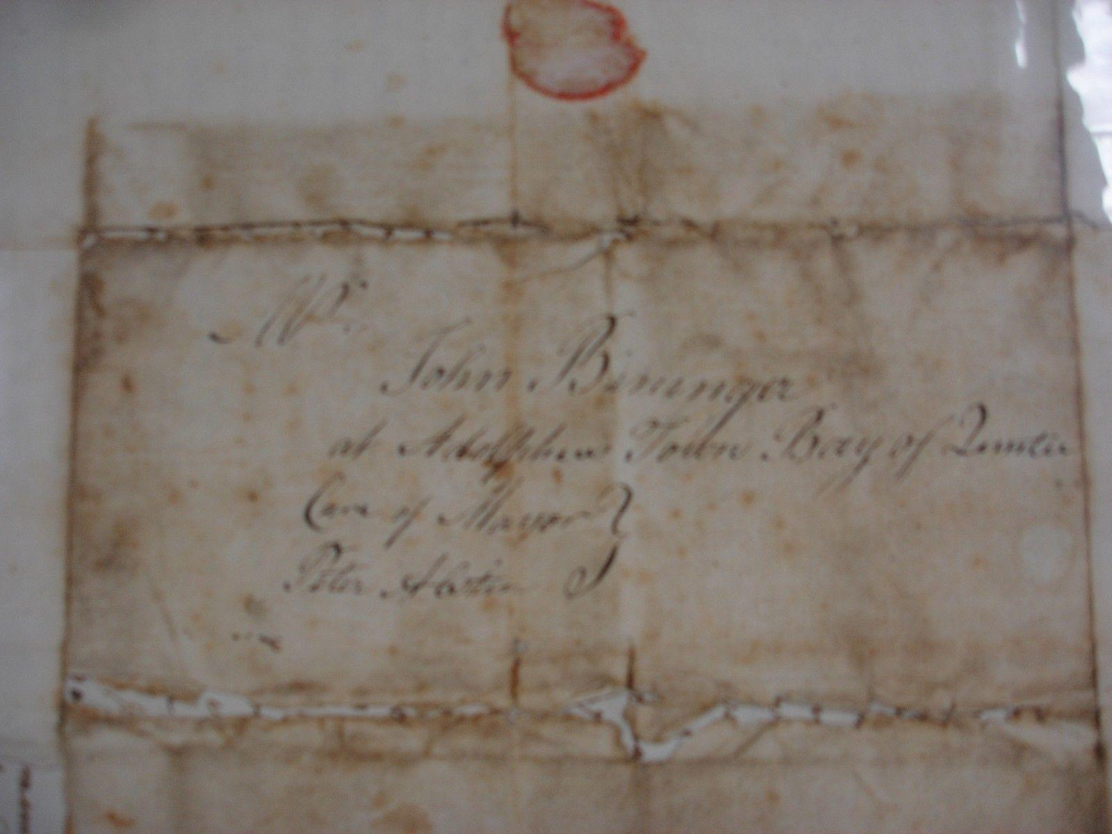 Abraham and Martha Bininger - Folio ALS - 1794