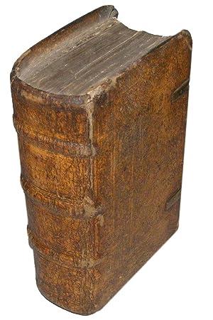 1523 Bible Latin Biblia Cum Summariorum. Tooled Vellum Boards