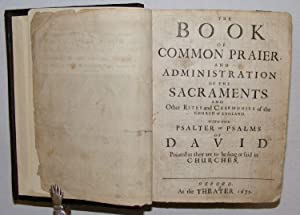 1675 1st Oxford Edition King James Bible Book of Common Prayer & Book of Psalms