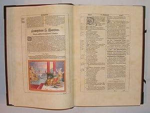 1630 Matthew Merian's Bible, Hand Colored Engravings, Gilt, Fine Binding Clasp