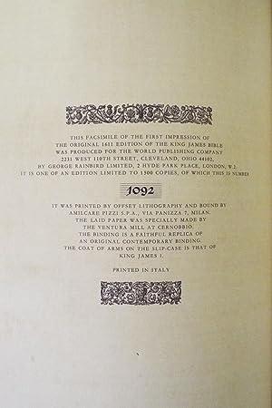 1611 Bible KJV - Folio - Rainbird Facsimile