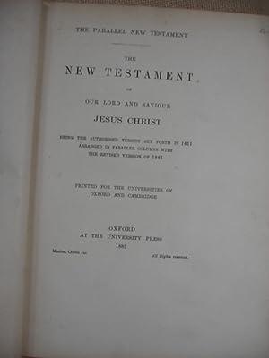 1882 Bible, KJV & Revised Parallel NT