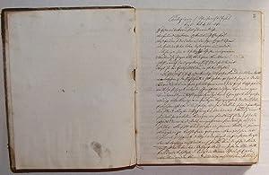 1877 German Manuscript Sermon 374 Pages Signed