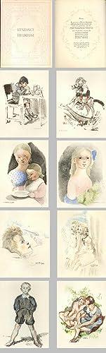 L'ENFANCE HEUREUSE. 8 lithographies en Couleurs Par: Laboratoire de Médecine