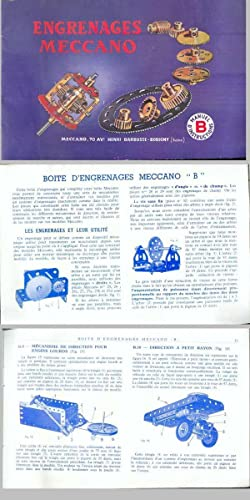 ENGRENAGES MECCANO. Manuel d'Instructions pour la Boîte d'Engrenages Meccano