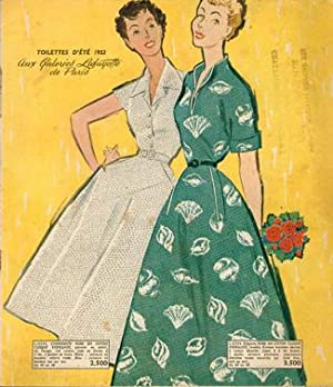 TOILETTES D'ÉTÉ 1953 AUX GALERIES LAFAYETTE DE PARIS. Catalogue