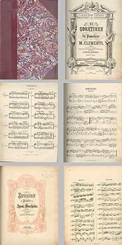 12 SONATINEN Für Pianoforte - STUDIEN Für Pianoforte: CLEMENTI (M.), MOSCHELES (Ignaz)