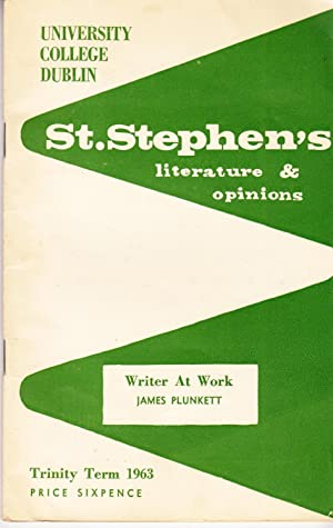 St Stephen's: Literature and Opinions, Trinity Term 1963: Hourican, Liam (ed.); Michael ...