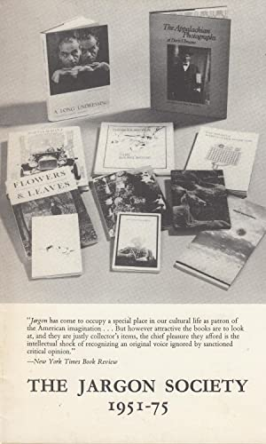 The Jargon Society 1951 - 75: Williams, Jonathan
