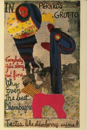 "Painting-Poem postcard [""In Perkko's grotto""]: Patchen, Kenneth"
