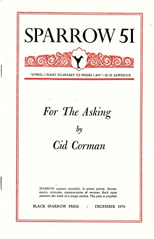 For the Asking [Sparrow 51]: Corman, Cid