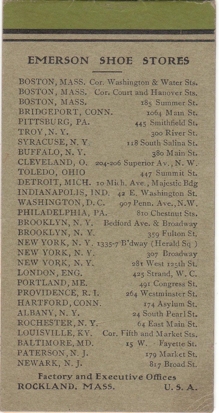 9c07355b8624 The Emerson Shoe Company Advertising Memorandum Booklet by Emerson ...