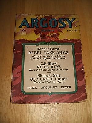 ARGOSY SEPTEMBER 28, 1940 VOLUME 302 NUMBER: Argosy) [Robert Carse,