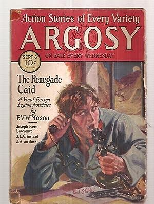 ARGOSY SEPTEMBER 6, 1930 VOLUME 215 NUMBER: Argosy) [cover by