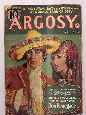 Argosy November 11, 1939 Volume 294 Number: Argosy) [cover by