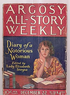 ARGOSY ALL-STORY WEEKLY DECEMBER 22, 1923 VOLUME: Argosy All-Story Weekly)