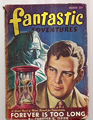 FANTASTIC ADVENTURES MARCH 1947 VOLUME 9 NUMBER: Fantastic Adventures) [cover