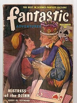 FANTASTIC ADVENTURES NOVEMBER 1950 VOLUME 12 NUMBER: Fantastic Adventures) [cover