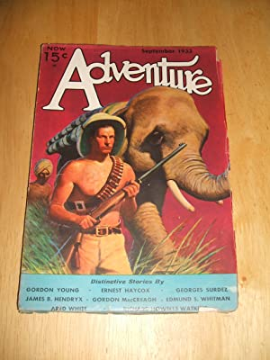 ADVENTURE SEPTEMBER 1933 VOL. LXXXVII NO. 3: Adventure) [cover by