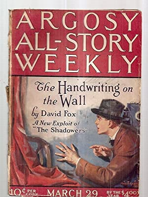ARGOSY ALL-STORY WEEKLY MARCH 29, 1924 VOLUME: Argosy All-Story Weekly)