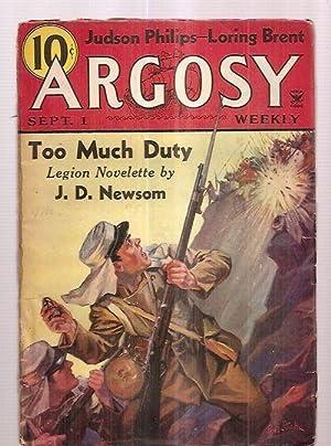 Argosy September 1, 1934 Volume 249 Number: Argosy) [cover by