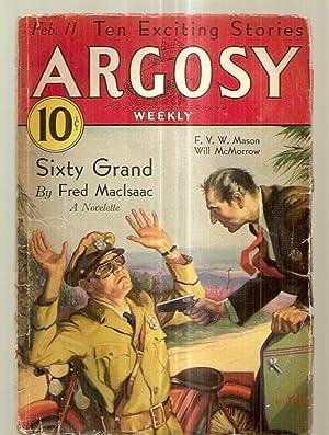 ARGOSY FEBRUARY 11, 1933 VOLUME 236 NUMBER: Argosy) [cover by