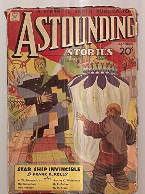 ASTOUNDING STORIES JANUARY 1935 VOLUME XIV NUMBER: Astounding Stories) [cover